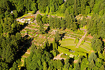 Aerial of the Washington Park International Rose Test Garden, Portland, Oregon