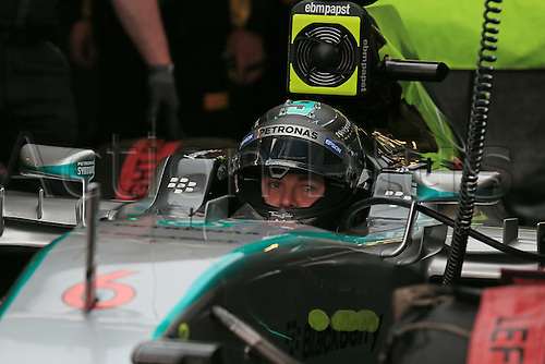 20.06.2015.  Red Bull Ring, Spielberg, Austria. F1 Grand Prix of Austria.   Mercedes AMG Petronas driver Nico Rosberg sits in the cockpit waiting for the green light of practice 3