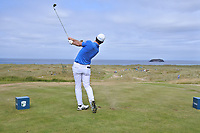 Ricardo Gouveia (POR) on the 14th during Round 3 of the Dubai Duty Free Irish Open at Ballyliffin Golf Club, Donegal on Saturday 7th July 2018.<br /> Picture:  Thos Caffrey / Golffile