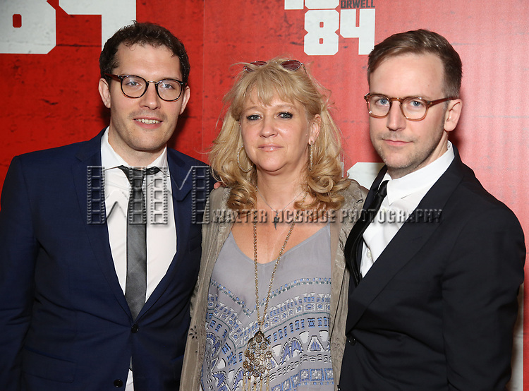 Robert Icke, Sonia Friedman and Duncan Macmillan attends the Broadway Opening Night Party for George Orwell's '1984' at The Lighthouse Pier 61 on June 22, 2017 in New York City.