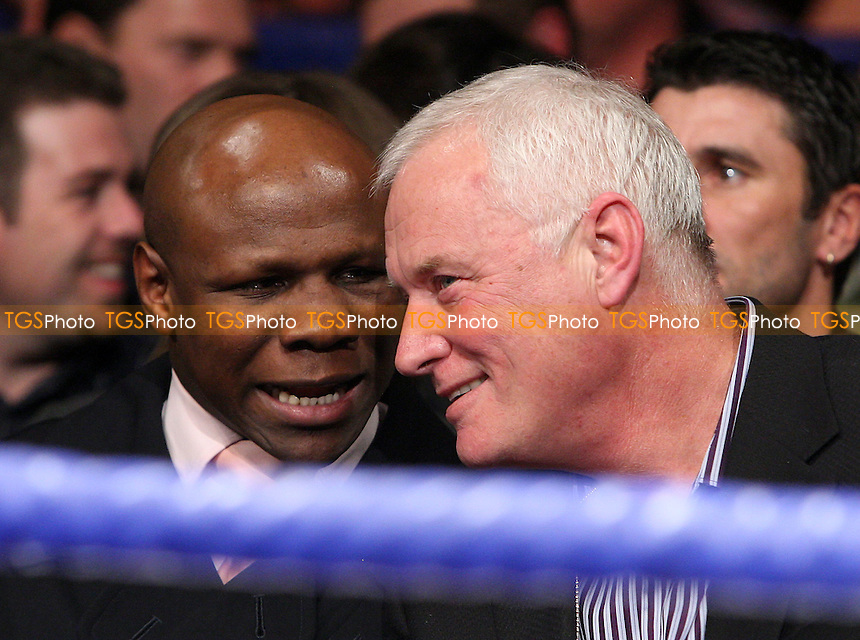 Chris Eubank (L) and promoter Barry Hearn pictured ringside during the Prizefighter 'The Light Heavyweights' boxing tournament at York Hall, Bethnal Green, promoted by Matchroom Sports / Barry Hearn - 21/02/09 - MANDATORY CREDIT: Gavin Ellis/TGSPHOTO - Self billing applies where appropriate - 0845 094 6026 - contact@tgsphoto.co.uk - NO UNPAID USE.