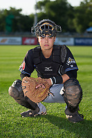Missoula Osprey catcher Andy Yerzy (38) poses for a photo prior to the game against the Billings Mustangs at Dehler Park on August 21, 2017 in Billings, Montana.  The Osprey defeated the Mustangs 10-4.  (Brian Westerholt/Four Seam Images)