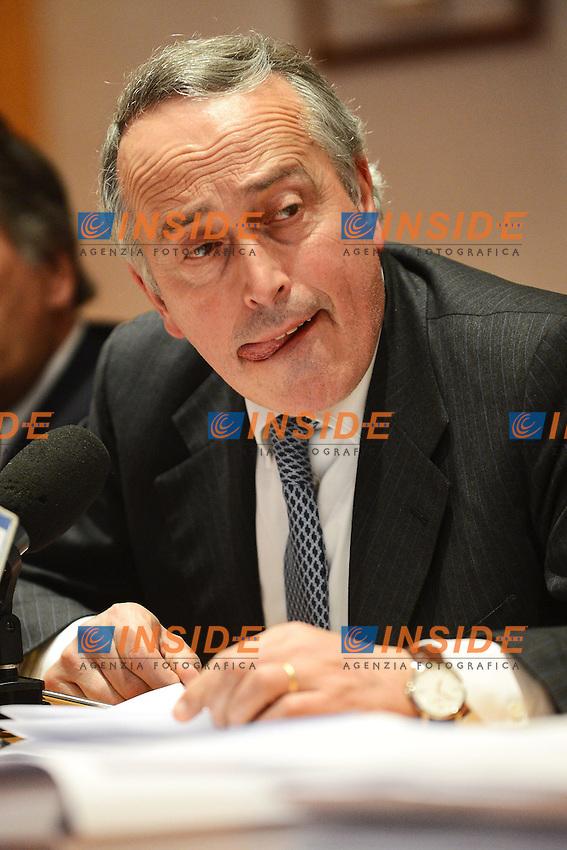 Giancarlo Abete Presidente FIGC..Roma 27/04/2012 FIGC.Consiglio Federale.Foto Insidefoto Andrea Staccioli