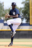 September 30, 2009:  Pitcher Jose Ramirez of the New York Yankees instructional league team delivers a pitch during a game at Yankees Training Complex in Tampa, FL.  Photo By Mark LoMoglio/Four Seam Images