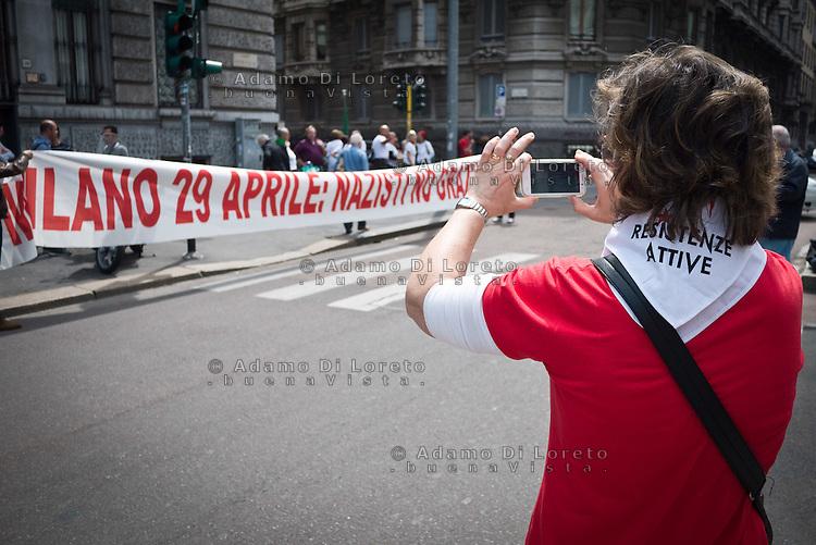 25 April demonstration italian liberation of Nazi Fascism World War II thanks by partigiani, on April 25, 2014. Photo: Adamo Di Loreto/BuenaVista*photo