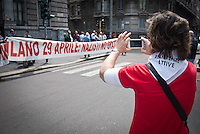 25 April demonstration italian liberation of Nazi Fascism World War II thanks by partigiani, on April 25, 2014. Photo: Adamo Di Loreto/BuenaVista*photo