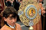 Bethlehem, a boy at the Greek Orthodox Christmas procession at Manger Square&#xA;&#xA;<br />