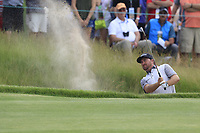 Graeme McDowell (NIR) chips from a bunker at the 6th green during Friday's Round 2 of the 117th U.S. Open Championship 2017 held at Erin Hills, Erin, Wisconsin, USA. 16th June 2017.<br /> Picture: Eoin Clarke | Golffile<br /> <br /> <br /> All photos usage must carry mandatory copyright credit (&copy; Golffile | Eoin Clarke)