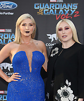 "HOLLYWOOD, CA - April 19: Taylor Ann Hasselhoff, Hayley Hasselhoff, At Premiere Of Disney And Marvel's ""Guardians Of The Galaxy Vol. 2"" At The Dolby Theatre  In California on April 19, 2017. Credit: FS/MediaPunch"