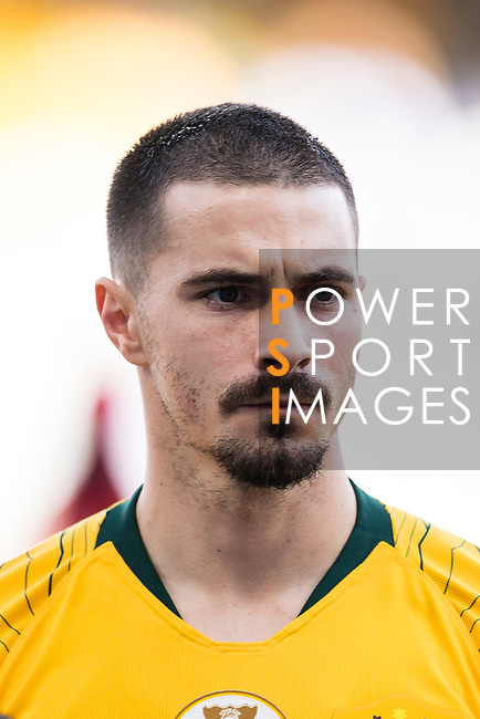 Jamie Maclaren of Australia is seen prior to the AFC Asian Cup UAE 2019 Group B match between Australia (AUS) and Jordan (JOR) at Hazza Bin Zayed Stadium on 06 January 2019 in Al Ain, United Arab Emirates. Photo by Marcio Rodrigo Machado / Power Sport Images