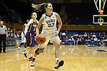 19 December 2013: Duke's Haley Peters (33). The Duke University Blue Devils played the University at Albany, The State University of New York Great Danes at Cameron Indoor Stadium in Durham, North Carolina in a 2013-14 NCAA Division I Women's Basketball game. Duke won the game 80-51.