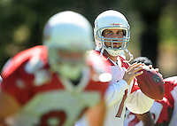 Jul 30, 2008; Flagstaff, AZ, USA; Arizona Cardinals quarterback Matt Leinart during training camp on the campus of Northern Arizona University. Mandatory Credit: Mark J. Rebilas-