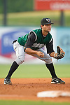 Augusta third baseman Hector Borg (9) on defense versus the kannapolis Intimidators at Fieldcrest Cannon Stadium in Kannapolis, NC, Saturday, June 17, 2006.