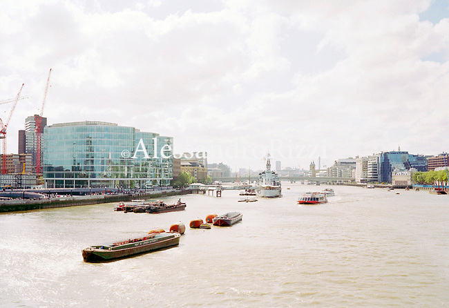 View of the river Thames in London