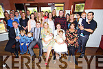 Shauna O'Brien and Martin Flynn from Sundays Well, Tralee, had their little boy Austin christened at Curraheen Church by Fr. Nolan with a celebration after with family and friend at O'Donnells Bar on Sunday