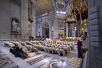 Pope Francis mass of the Poor, St Peter's basilica in Vatican. November 18, 2018