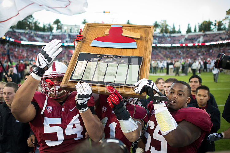 STANFORD, CA - The Stanford Cardinal defeats the visiting California Golden Bears 63-13 to win the 116th Big Game at Stanford Stadium.