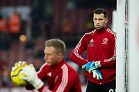 Sheffield United's Michael Verrips watches on as Simon Moore is put through his paces <br /> <br /> Photographer Alex Dodd/CameraSport<br /> <br /> The Premier League - Sheffield United v Manchester United - Sunday 24th November 2019 - Bramall Lane - Sheffield<br /> <br /> World Copyright © 2019 CameraSport. All rights reserved. 43 Linden Ave. Countesthorpe. Leicester. England. LE8 5PG - Tel: +44 (0) 116 277 4147 - admin@camerasport.com - www.camerasport.com
