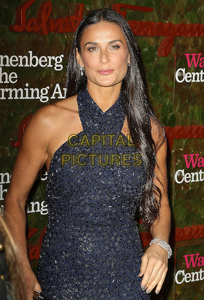 Demi Moore<br /> Wallis Annenberg Center For The Performing Arts Inaugural Gala held at Wallis Annenberg Center For The Performing Arts,  Beverly Hills, California, USA, 17th October 2013.<br /> half length navy blue sequined sequin sparkly dress halterneck <br /> CAP/ADM/KB<br /> &copy;Kevan Brooks/AdMedia/Capital Pictures