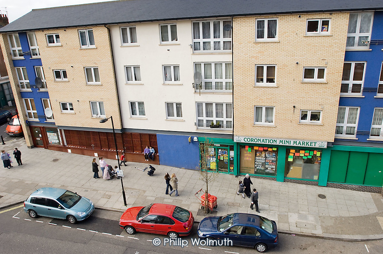 Dart Street, West London, where residents involved in the Queens Park Forum are planning to create a 'Home Zone' which will be a more atractive place for people to meet and play.