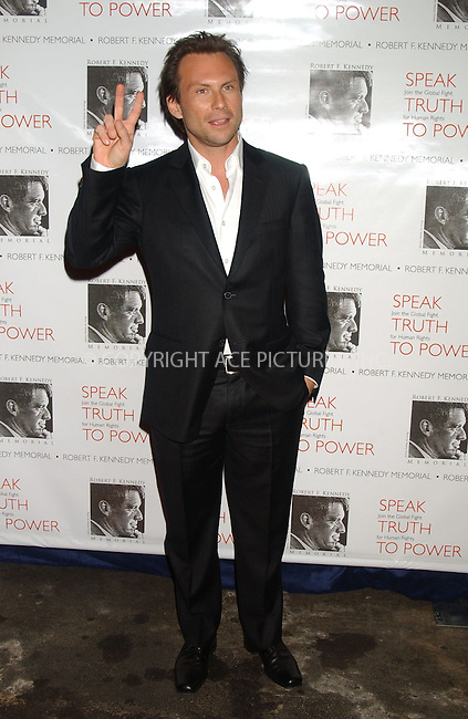 WWW.ACEPIXS.COM . . . . . ....October 6, 2006, New York City. ....Christian Slater attends the RFK Memorial Benefit, 'Speak Truth To Power'. ....Please byline: KRISTIN CALLAHAN - ACEPIXS.COM.. . . . . . ..Ace Pictures, Inc:  ..(212) 243-8787 or (646) 769 0430..e-mail: info@acepixs.com..web: http://www.acepixs.com