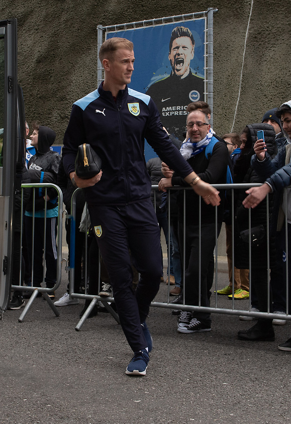 Burnley arriving at the The Amex Stadium <br /> <br /> Photographer David Horton/CameraSport<br /> <br /> The Premier League - Brighton and Hove Albion v Burnley - Saturday 9th February 2019 - The Amex Stadium - Brighton<br /> <br /> World Copyright © 2019 CameraSport. All rights reserved. 43 Linden Ave. Countesthorpe. Leicester. England. LE8 5PG - Tel: +44 (0) 116 277 4147 - admin@camerasport.com - www.camerasport.com