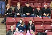 BC men's hockey player Philip Samuelsson attended the game with his family Jeanette, Ulf, Adam and Victoria Samuelsson. - The Boston College Eagles defeated the visiting Northeastern University Huskies 2-1 on Sunday, January 30, 2011, at Conte Forum in Chestnut Hill, Massachusetts.