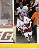 Matt Lombardi (BC - 24), Matt Price (BC - 25) - The Boston College Eagles defeated the University of Massachusetts-Amherst Minutemen 2-1 (OT) on Friday, February 26, 2010, at Conte Forum in Chestnut Hill, Massachusetts.