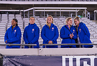 , FL - : Imani Dorsey #29, Aubrey Bledsoe #24, Lindsey Horan #9, Abby Dahlkemper #7 and Alyssa Naeher #1 of the United States watch from the stands during a game between  at  on ,  in , Florida.