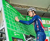 6th September 2017, Mansfield, England; OVO Energy Tour of Britain Cycling; Stage 4, Mansfield to Newark-On-Trent;  Ethan Hayter of Great Britain-GBR Team completes registration sign-in at Mansfield