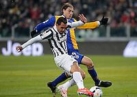 Gol di Carlos Tevez Juventus, Goal Celebration, Torino 26-3-2014, Juventus Stadium, Football Calcio 2013/2014 Serie A, Juventus - Parma, Foto Marco Bertorello/Insidefoto