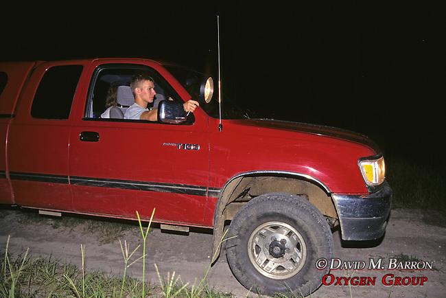 John Fleming Searching For Armadillo At Night