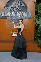 Daniella Pineda at the premiere for &quot;Jurassic World: Fallen Kingdom&quot; at the Walt Disney Concert Hall, Los Angeles, USA 12 June 2018<br /> Picture: Paul Smith/Featureflash/SilverHub 0208 004 5359 sales@silverhubmedia.com