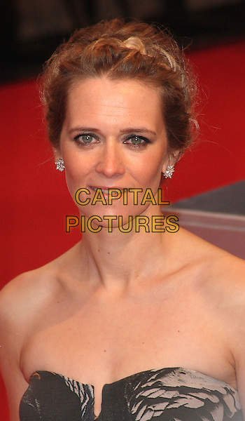 EDITH BOWMAN.Arrivals at the Orange British Academy Film Awards 2010 at the Royal Opera House, Covent Garden, London, England..February 21st, 2010.BAFTA BAFTAs headshot portrait strapless grey gray plait braid.CAP/JIL.©Jill Mayhew/Capital Pictures