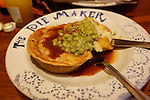 Allison's Savory Pie with mushy peas at the Pie Maker in Galway, County Galway, Ireland on Monday, June 24th 2013. (Photo by Brian Garfinkel)