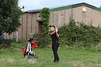 Lewys Sanges from Wales at the 17th during Round 2 Singles of the Men's Home Internationals 2018 at Conwy Golf Club, Conwy, Wales on Thursday 13th September 2018.<br /> Picture: Thos Caffrey / Golffile<br /> <br /> All photo usage must carry mandatory copyright credit (&copy; Golffile | Thos Caffrey)