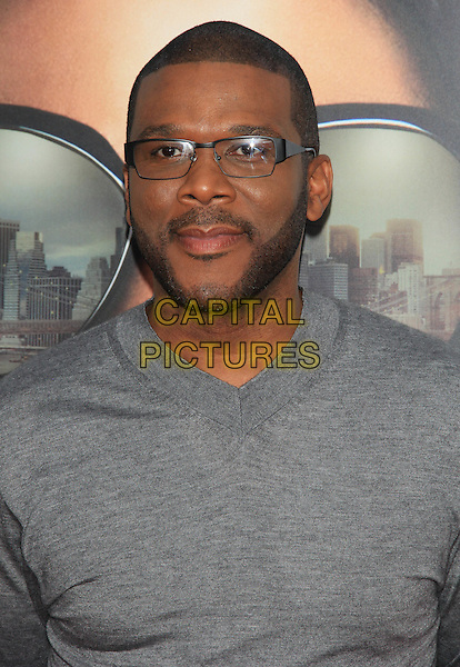 """Tyler Perry.The Premiere of """"Madea's Witness Protection"""" held at AMC Loews Lincoln Square Cinemas, New York, NY., USA..June 25th, 2012.headshot portrait grey gray top glasses beard facial hair .CAP/LNC/TOM.©LNC/Capital Pictures."""