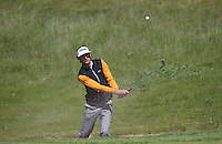 Pedro Oriol (ESP) plays bunker shot on the first hole during Round Two of the 2015 Nordea Masters at the PGA Sweden National, Bara, Malmo, Sweden. 05/06/2015. Picture David Lloyd | www.golffile.ie
