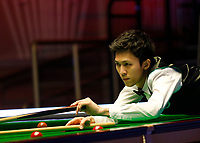 26th February 2020; Waterfront, Southport, Merseyside, England; World Snooker Championship, Coral Players Championship; Thepchaiya Un-Nooh (THA) at the table during his first round match against Mark Allen (ENG)