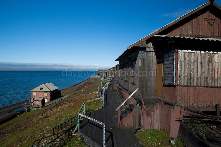 Abandoned house in Barentsburg, a Russian coal mining town in the Norwegian Archipelego of Svalbard. Once home to about 2000 miners and their families, less than 500 people now live here.