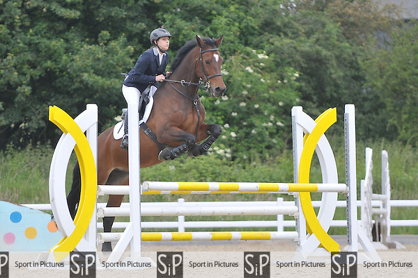 Class 1. Outdoor British Showjumping (BS) Seniors show. Category 2. Brook Farm Training Centre. Essex. 10/06/2016. MANDATORY Credit Garry Bowden/Sportinpictures - NO UNAUTHORISED USE - 07837 394578