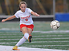 Tiffany Bernot #8 of Wheatley makes a free kick during the Nassau County varsity girls soccer Class B final against Carle Place at Cold Spring Harbor High School on Tuesday, Nov. 1, 2016. Wheatley won by a score of 5-0.