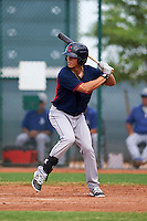 Cleveland Indians Sam Haggerty (16) during an instructional league game against the Los Angeles Dodgers on October 15, 2015 at the Goodyear Ballpark Complex in Goodyear, Arizona.  (Mike Janes/Four Seam Images)