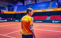 Den Bosch, The Netherlands, Februari 07 2019,  Maaspoort , FedCup  Netherlands - Canada,Training , captain Paul Haarhuis.<br /> Photo: Tennisimages/Henk Koster