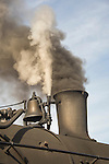 Essex, CT Steam Train excursion. Tangshan Locomotive Works. Whistle and smoke stack.