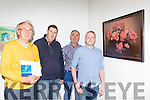 Des Fitzgerald Tralee with Cllr Michael Gleeson, Cllr Niall Kelliher and Cllr John Joe Culloty at the Kerry Visual Artists Showcase exhibition in the Department of Art on Friday night
