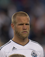 Vancouver Whitecaps FC defender Jay DeMerit (6). In a Major League Soccer (MLS) match, the New England Revolution defeated the Vancouver Whitecaps FC, 1-0, at Gillette Stadium on May14, 2011.