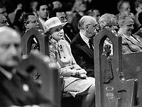 file photo Mai 17 1992- Montreal's 350th anniversary ; Jeanne Sauve
