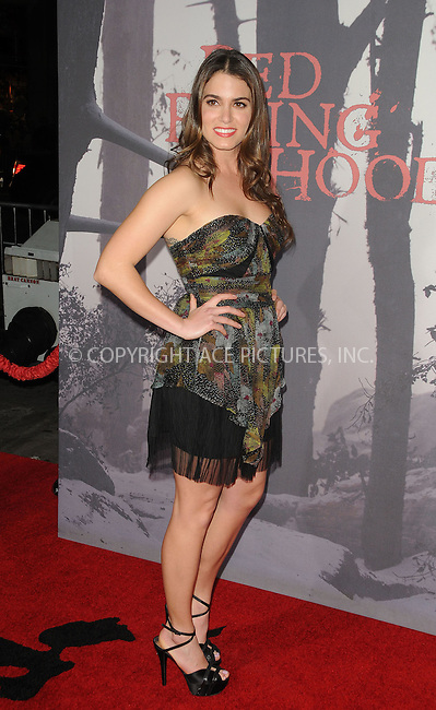 WWW.ACEPIXS.COM . . . . . ......March 7 2011, Los Angeles....Actress Nikki Reed arriving at the premiere of Warner Bros. Pictures' 'Red Riding Hood' at Grauman's Chinese Theatre on March 7, 2011 in Hollywood, California.....Please byline: PETER WEST - ACEPIXS.COM....Ace Pictures, Inc:  ..(212) 243-8787 or (646) 679 0430..e-mail: picturedesk@acepixs.com..web: http://www.acepixs.com