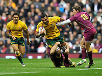 Twickenham, England. Wycliff Palu of Australia in action during the QBE international match between England and Australia for the Cook Cup at Twickenham Stadium on November 10, 2012 in Twickenham, England